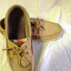 Pair MALA ISLAND Canvas & Suede Deck Shoes